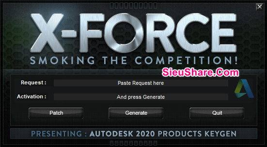 Product Key X-Force Keygen Autodesk 2020
